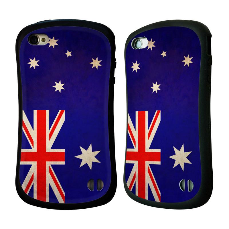 Nárazuvzdorné pouzdro na mobil Apple iPhone 4 a 4S HEAD CASE VLAJKA AUSTRÁLIE (Odolný nárazuvzdorný silikonový kryt či obal na mobilní telefon Apple iPhone 4 a 4S)