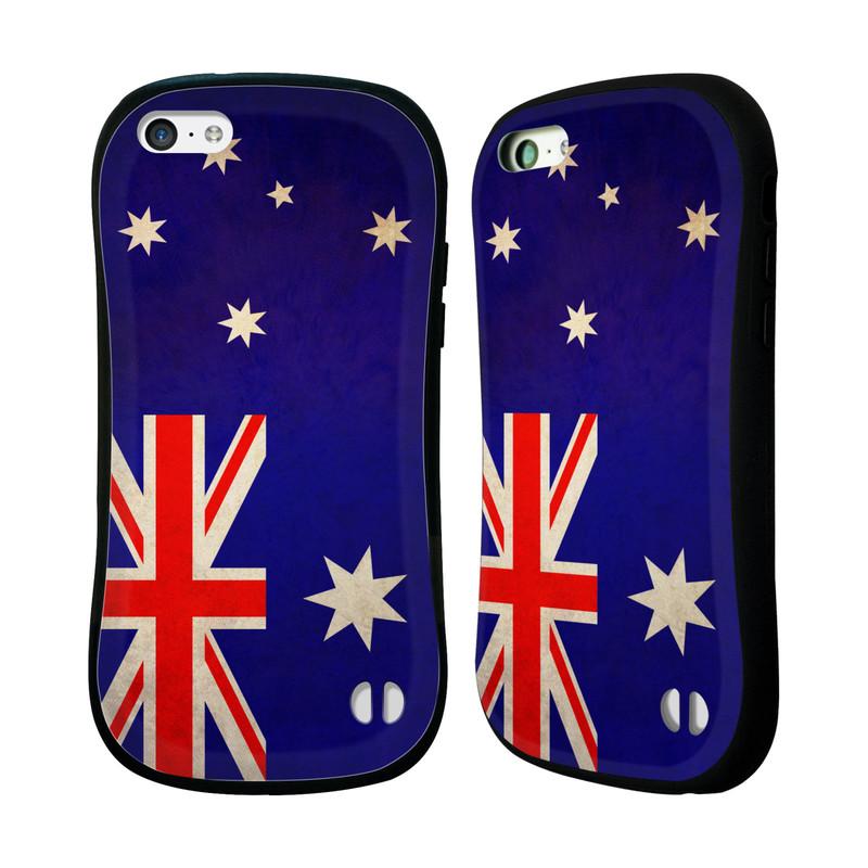 Nárazuvzdorné pouzdro na mobil Apple iPhone 5C HEAD CASE VLAJKA AUSTRÁLIE (Odolný nárazuvzdorný silikonový kryt či obal na mobilní telefon Apple iPhone 5C)
