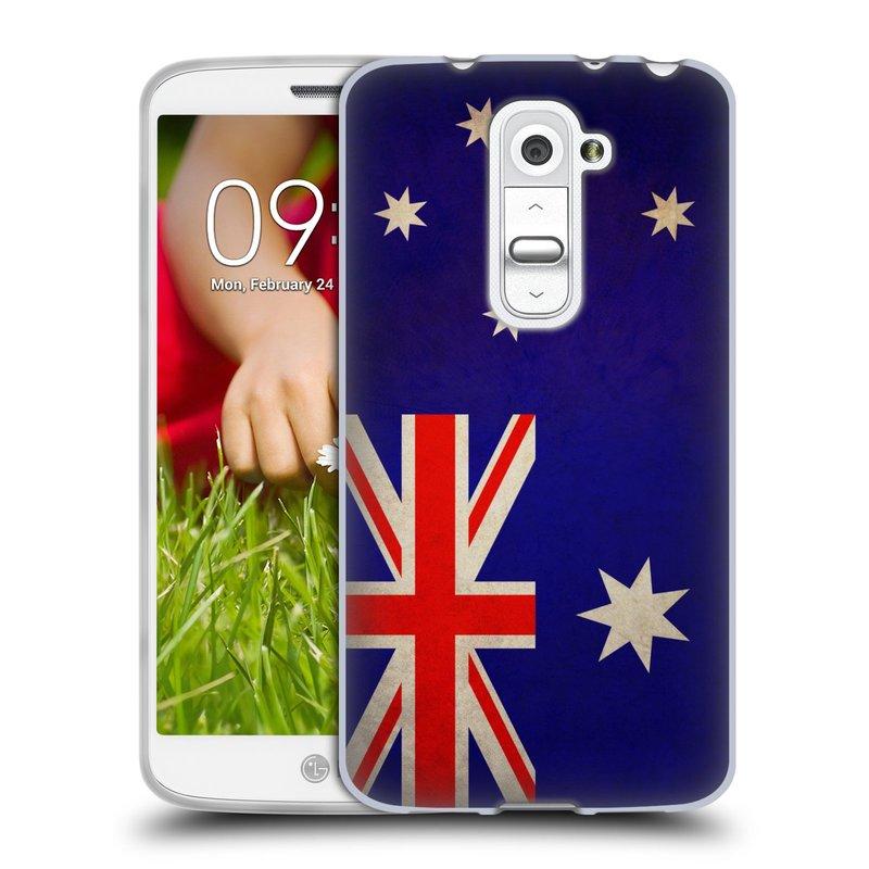 Silikonové pouzdro na mobil LG G2 Mini HEAD CASE VLAJKA AUSTRÁLIE (Silikonový kryt či obal na mobilní telefon LG G2 Mini D620)