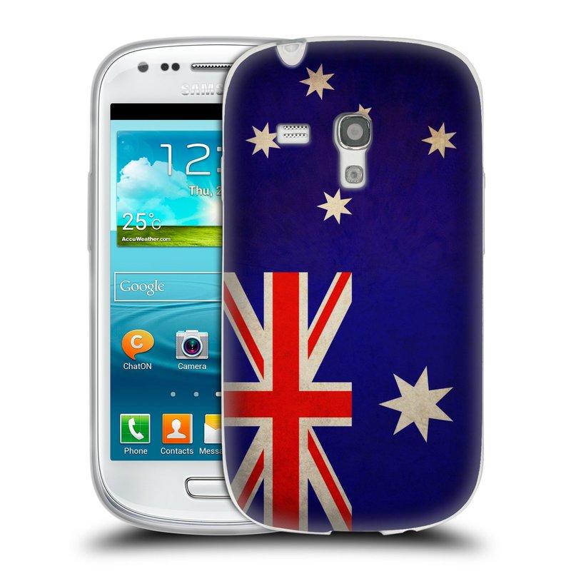 Silikonové pouzdro na mobil Samsung Galaxy S3 Mini VE HEAD CASE VLAJKA AUSTRÁLIE (Silikonový kryt či obal na mobilní telefon Samsung Galaxy S3 Mini VE GT-i8200)