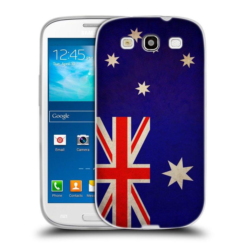 Silikonové pouzdro na mobil Samsung Galaxy S III HEAD CASE VLAJKA AUSTRÁLIE (Silikonový kryt či obal na mobilní telefon Samsung Galaxy S III GT-i9300)