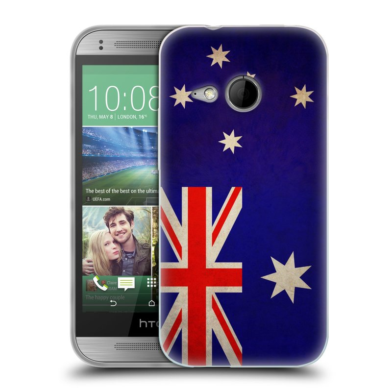 Silikonové pouzdro na mobil HTC ONE Mini 2 HEAD CASE VLAJKA AUSTRÁLIE (Silikonový kryt či obal na mobilní telefon HTC ONE Mini 2)