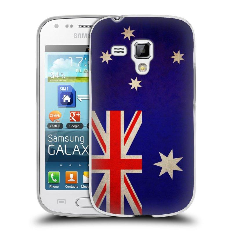 Silikonové pouzdro na mobil Samsung Galaxy S Duos HEAD CASE VLAJKA AUSTRÁLIE (Silikonový kryt či obal na mobilní telefon Samsung Galaxy S Duos GT-S7562)