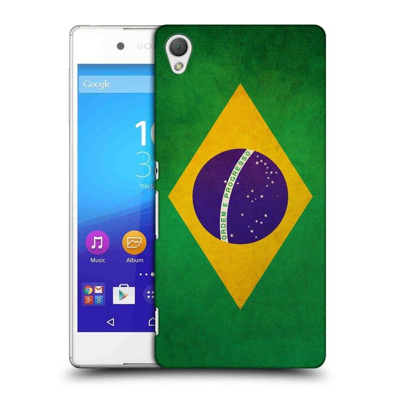 Plastové pouzdro na mobil Sony Xperia Z3+ (Plus) HEAD CASE VLAJKA BRAZÍLIE (Kryt či obal na mobilní telefon Sony Xperia Z3+ a Sony Xperia Z4 )