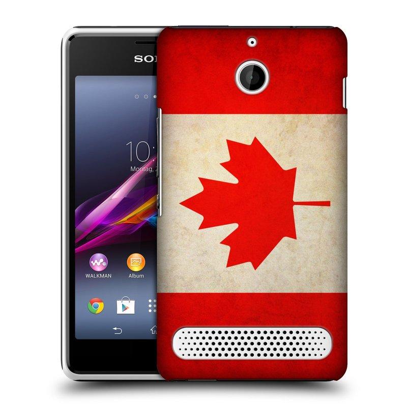 Plastové pouzdro na mobil Sony Xperia E1 D2005 HEAD CASE VLAJKA KANADA (Kryt či obal na mobilní telefon Sony Xperia E1 a E1 Dual)
