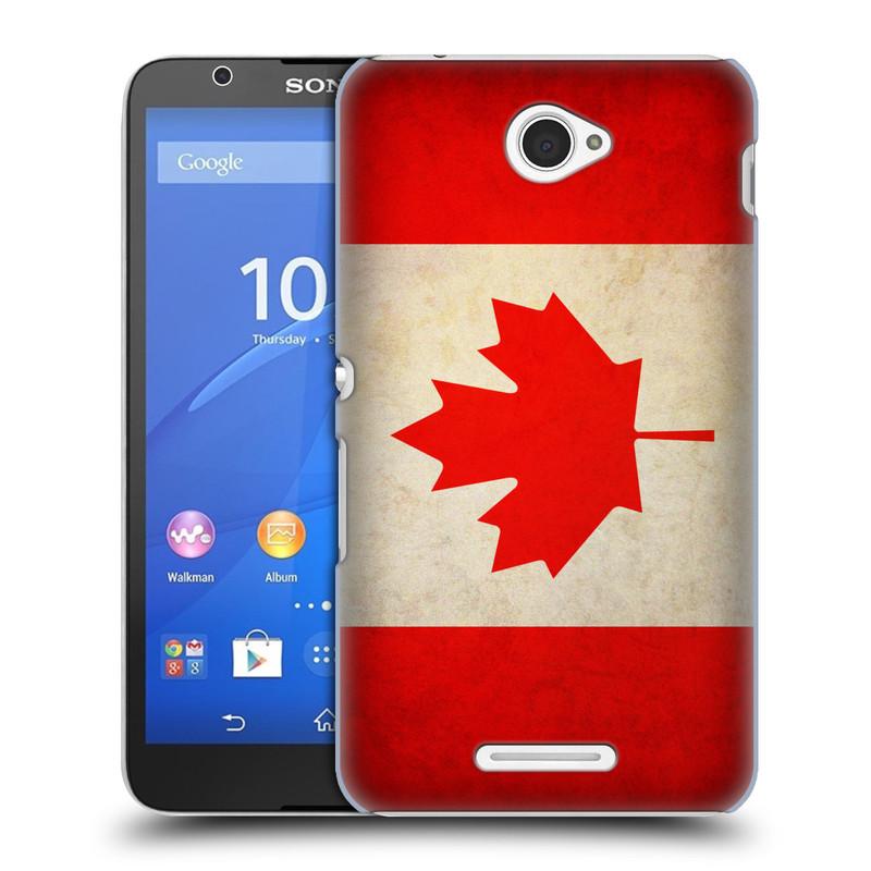 Plastové pouzdro na mobil Sony Xperia E4 E2105 HEAD CASE VLAJKA KANADA (Kryt či obal na mobilní telefon Sony Xperia E4 a E4 Dual SIM)