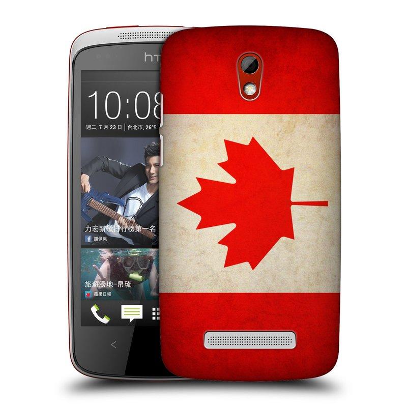 Plastové pouzdro na mobil HTC Desire 500 HEAD CASE VLAJKA KANADA (Kryt či obal na mobilní telefon HTC Desire 500)