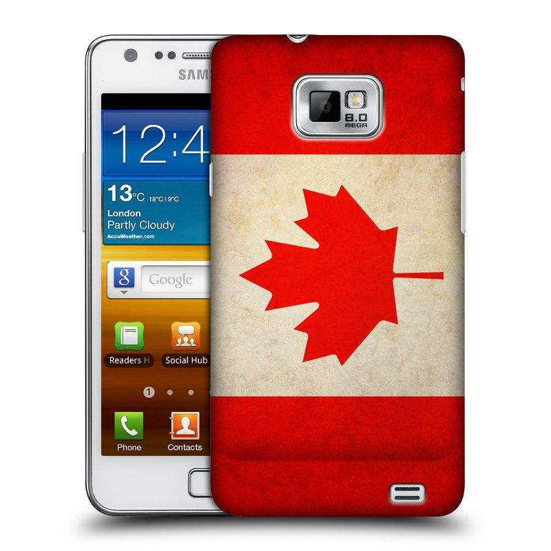 Plastové pouzdro na mobil Samsung Galaxy S II HEAD CASE VLAJKA KANADA (Kryt či obal na mobilní telefon Samsung Galaxy S II GT-i9100)