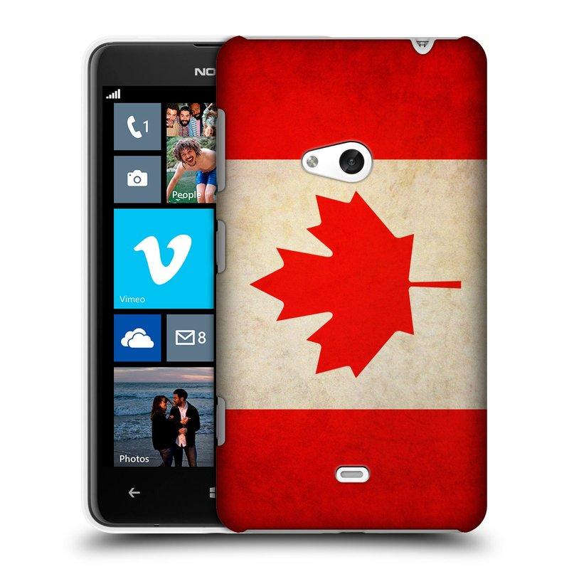 Plastové pouzdro na mobil Nokia Lumia 625 HEAD CASE VLAJKA KANADA (Kryt či obal na mobilní telefon Nokia Lumia 625)