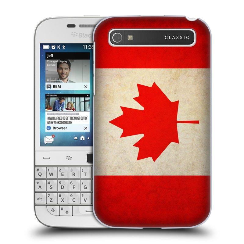 Plastové pouzdro na mobil Blackberry Classic HEAD CASE VLAJKA KANADA (Kryt či obal na mobilní telefon Blackberry Classic)