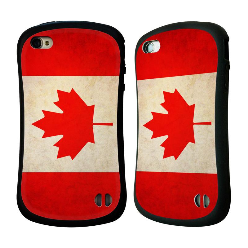 Nárazuvzdorné pouzdro na mobil Apple iPhone 4 a 4S HEAD CASE VLAJKA KANADA (Odolný nárazuvzdorný silikonový kryt či obal na mobilní telefon Apple iPhone 4 a 4S)