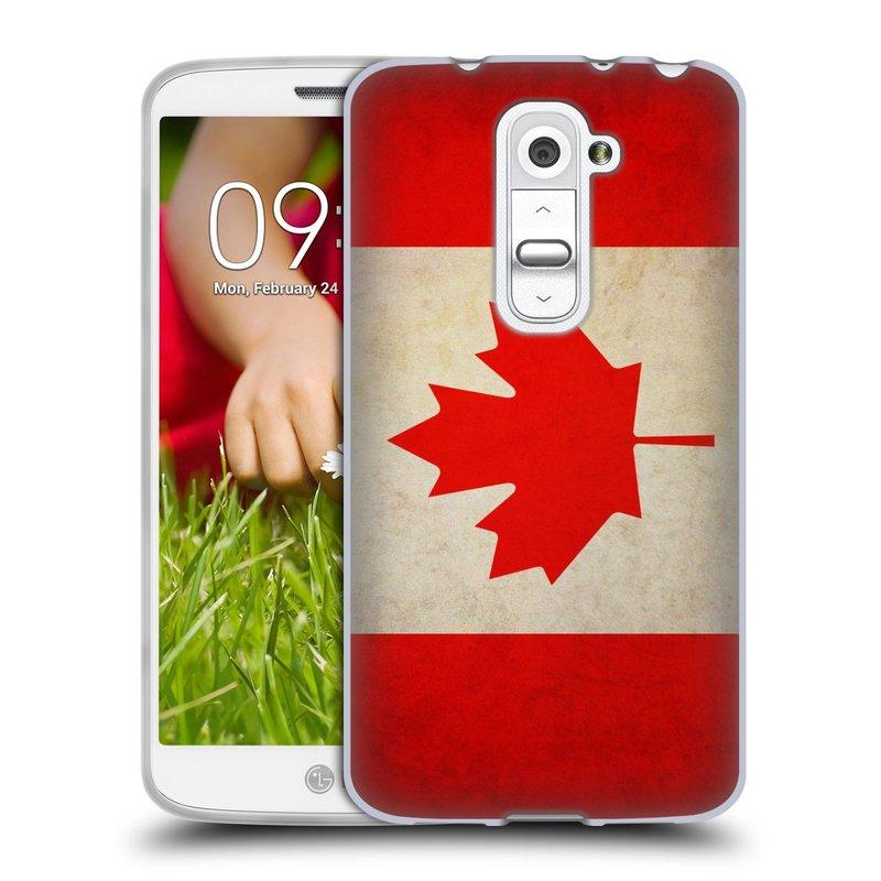 Silikonové pouzdro na mobil LG G2 Mini HEAD CASE VLAJKA KANADA (Silikonový kryt či obal na mobilní telefon LG G2 Mini D620)
