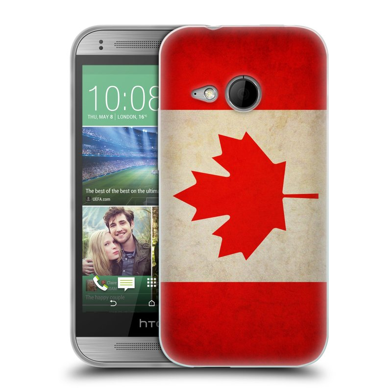Silikonové pouzdro na mobil HTC ONE Mini 2 HEAD CASE VLAJKA KANADA (Silikonový kryt či obal na mobilní telefon HTC ONE Mini 2)