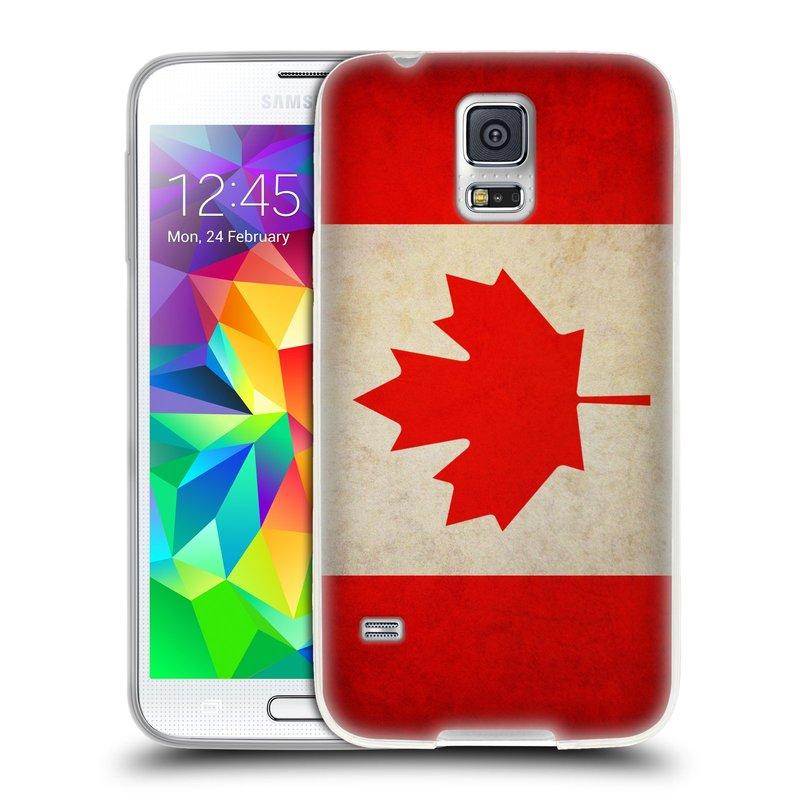 Silikonové pouzdro na mobil Samsung Galaxy S5 HEAD CASE VLAJKA KANADA (Silikonový kryt či obal na mobilní telefon Samsung Galaxy S5 SM-G900F)