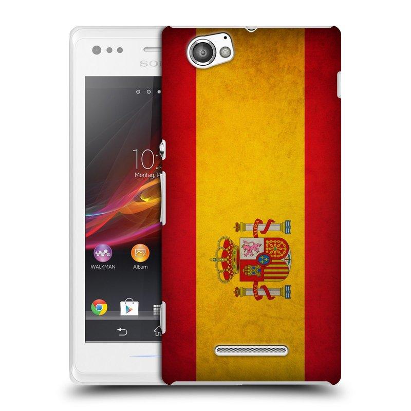 Plastové pouzdro na mobil Sony Xperia M C1905 HEAD CASE VLAJKA ŠPANĚLSKO (Kryt či obal na mobilní telefon Sony Xperia M )