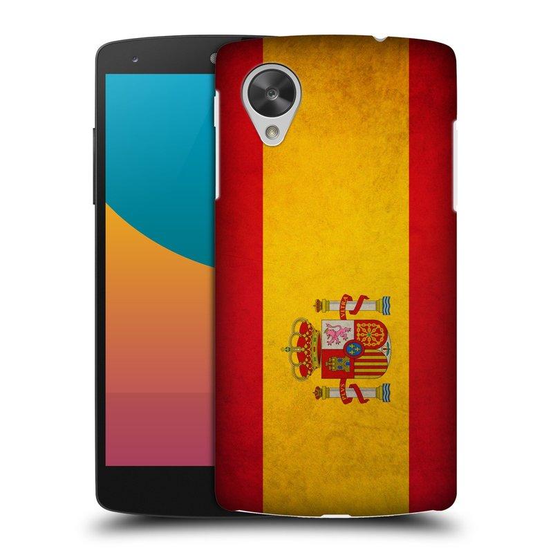 Plastové pouzdro na mobil LG Nexus 5 HEAD CASE VLAJKA ŠPANĚLSKO (Kryt či obal na mobilní telefon LG Google Nexus 5 D821)