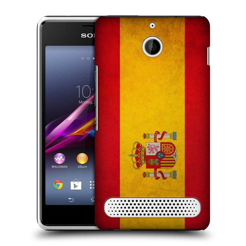 Plastové pouzdro na mobil Sony Xperia E1 D2005 HEAD CASE VLAJKA ŠPANĚLSKO (Kryt či obal na mobilní telefon Sony Xperia E1 a E1 Dual)