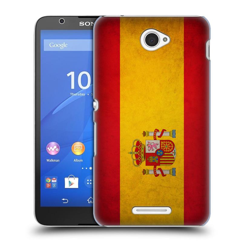 Plastové pouzdro na mobil Sony Xperia E4 E2105 HEAD CASE VLAJKA ŠPANĚLSKO (Kryt či obal na mobilní telefon Sony Xperia E4 a E4 Dual SIM)