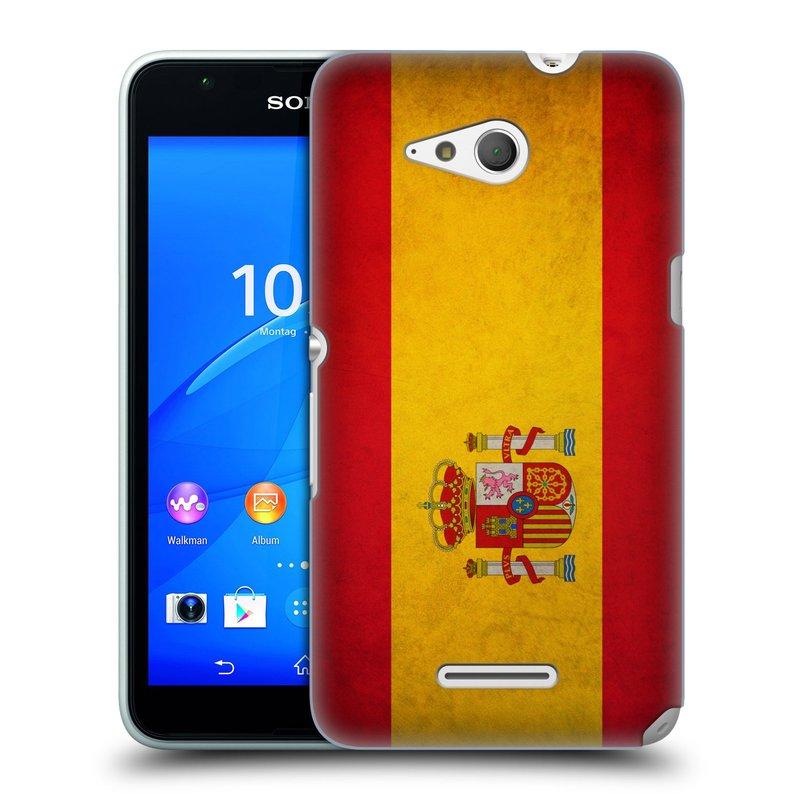 Plastové pouzdro na mobil Sony Xperia E4g E2003 HEAD CASE VLAJKA ŠPANĚLSKO (Kryt či obal na mobilní telefon Sony Xperia E4g a E4g Dual SIM)