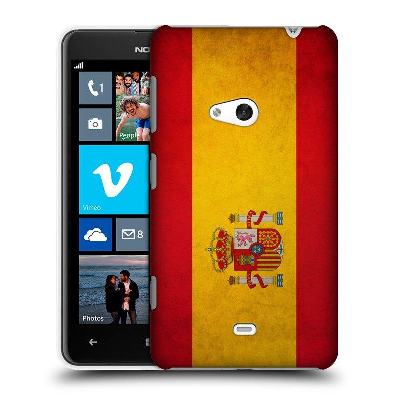 Plastové pouzdro na mobil Nokia Lumia 625 HEAD CASE VLAJKA ŠPANĚLSKO (Kryt či obal na mobilní telefon Nokia Lumia 625)
