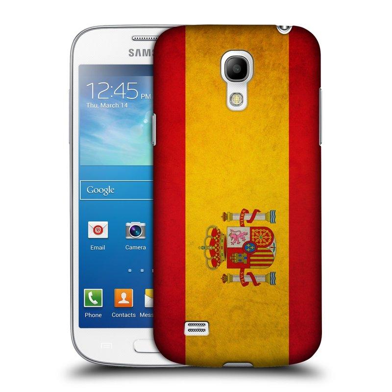 Plastové pouzdro na mobil Samsung Galaxy S4 Mini HEAD CASE VLAJKA ŠPANĚLSKO (Kryt či obal na mobilní telefon Samsung Galaxy S4 Mini GT-i9195 / i9190)