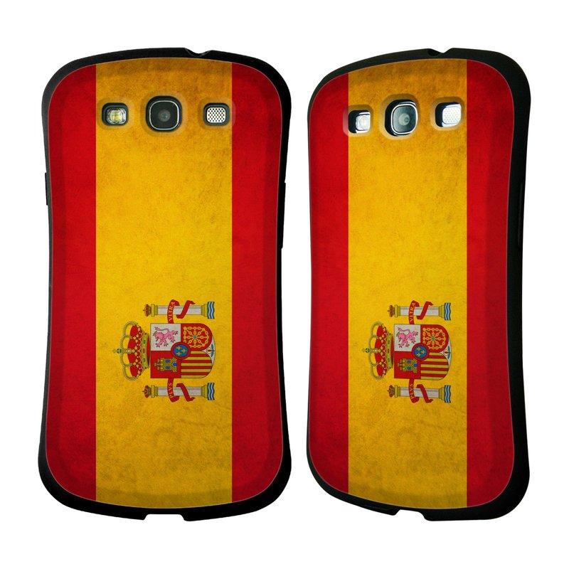 Nárazuvzdorné pouzdro na mobil Samsung Galaxy S III HEAD CASE VLAJKA ŠPANĚLSKO (Odolný nárazuvzdorný silikonový kryt či obal na mobilní telefon Samsung Galaxy S III GT-i9300)