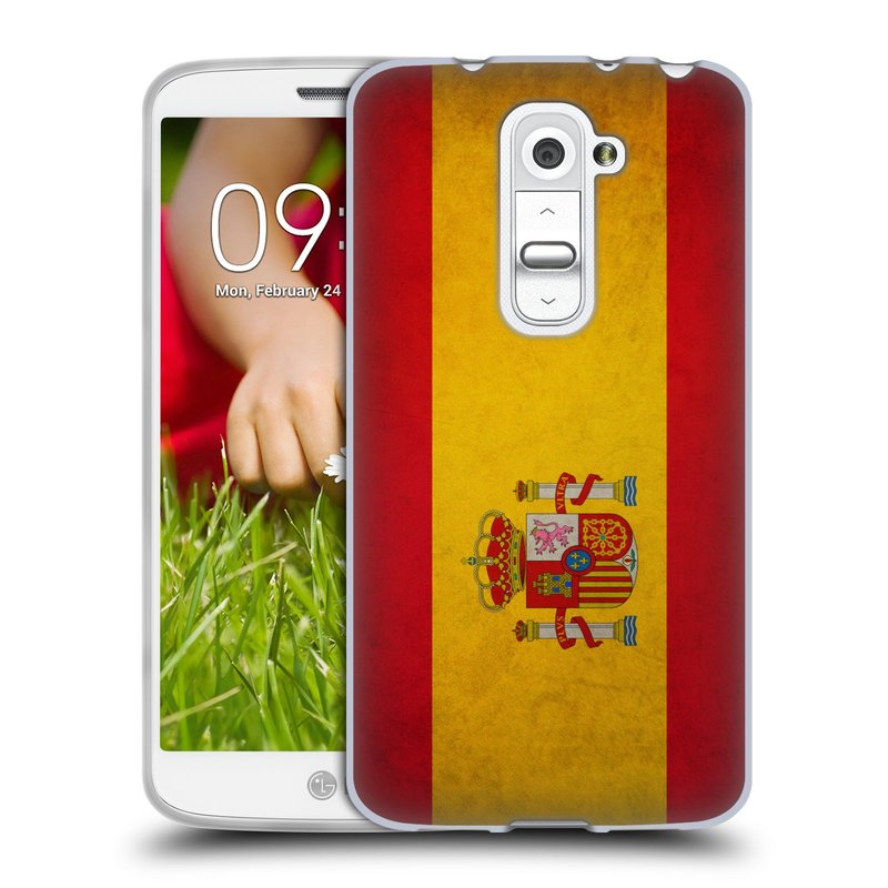 Silikonové pouzdro na mobil LG G2 Mini HEAD CASE VLAJKA ŠPANĚLSKO (Silikonový kryt či obal na mobilní telefon LG G2 Mini D620)