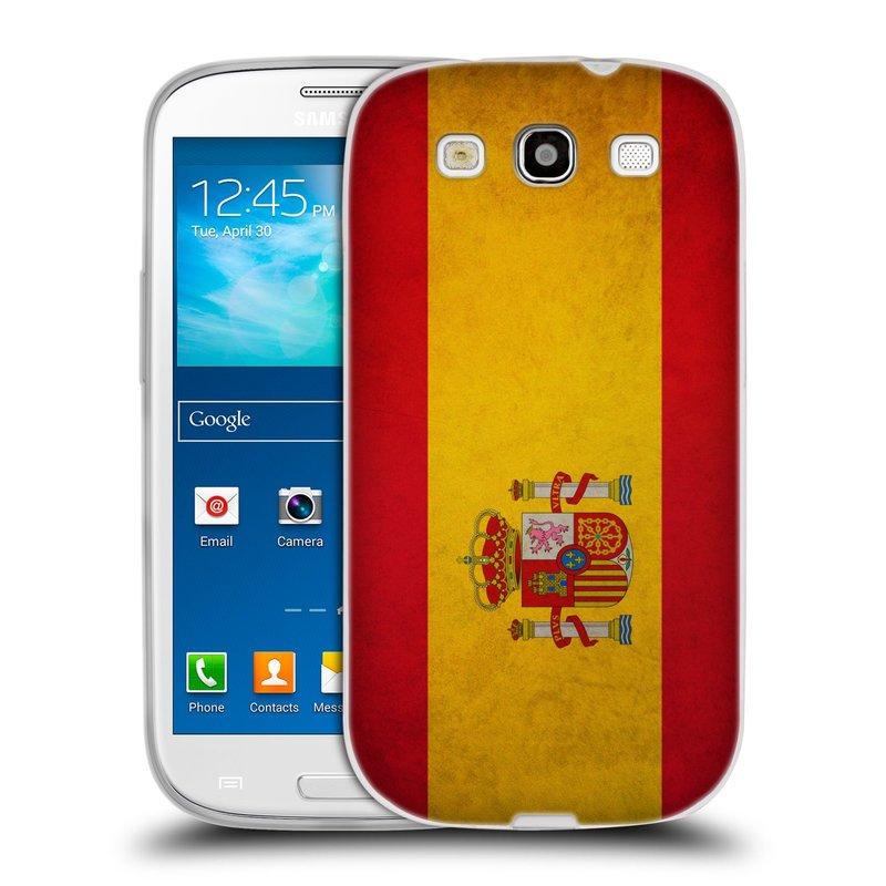 Silikonové pouzdro na mobil Samsung Galaxy S III HEAD CASE VLAJKA ŠPANĚLSKO (Silikonový kryt či obal na mobilní telefon Samsung Galaxy S III GT-i9300)