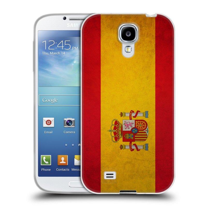 Silikonové pouzdro na mobil Samsung Galaxy S4 HEAD CASE VLAJKA ŠPANĚLSKO (Silikonový kryt či obal na mobilní telefon Samsung Galaxy S4 GT-i9505 / i9500)