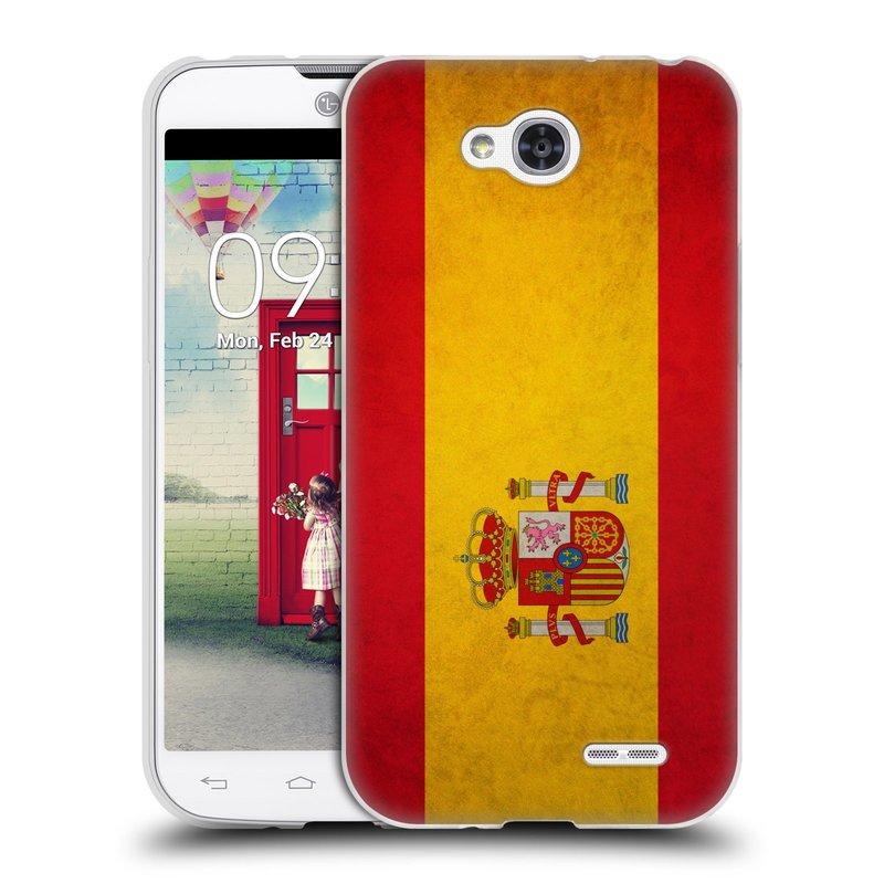 Silikonové pouzdro na mobil LG L90 HEAD CASE VLAJKA ŠPANĚLSKO (Silikonový kryt či obal na mobilní telefon LG L90 D405n)