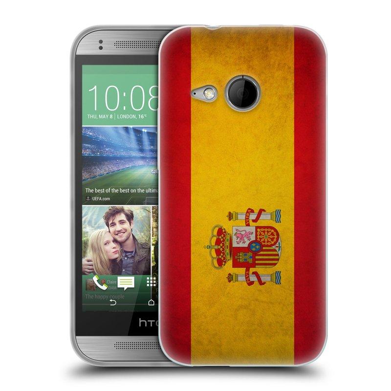 Silikonové pouzdro na mobil HTC ONE Mini 2 HEAD CASE VLAJKA ŠPANĚLSKO (Silikonový kryt či obal na mobilní telefon HTC ONE Mini 2)