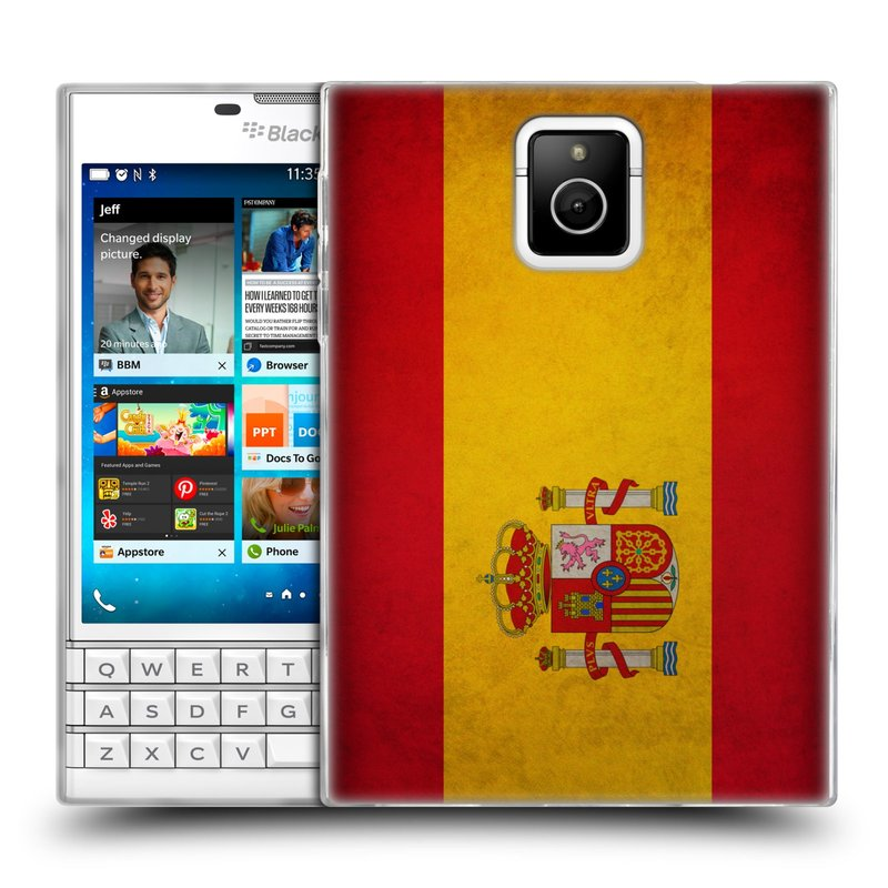 Silikonové pouzdro na mobil Blackberry PASSPORT HEAD CASE VLAJKA ŠPANĚLSKO (Silikonový kryt či obal na mobilní telefon Blackberry PASSPORT)
