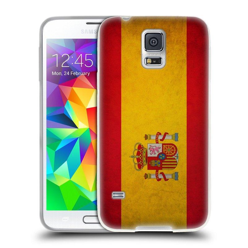 Silikonové pouzdro na mobil Samsung Galaxy S5 HEAD CASE VLAJKA ŠPANĚLSKO (Silikonový kryt či obal na mobilní telefon Samsung Galaxy S5 SM-G900F)