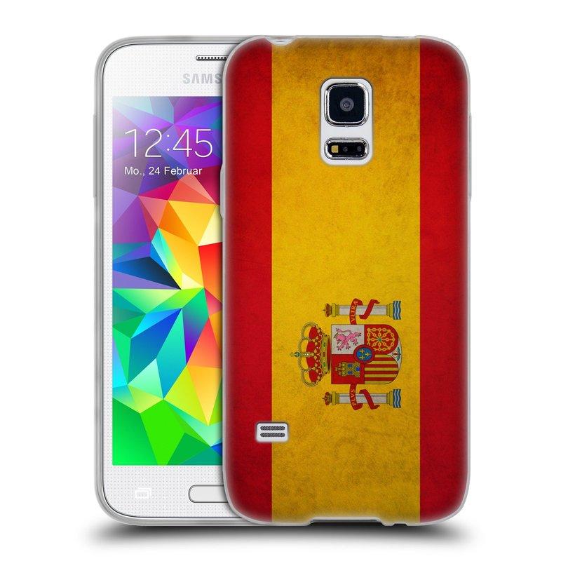 Silikonové pouzdro na mobil Samsung Galaxy S5 Mini HEAD CASE VLAJKA ŠPANĚLSKO (Silikonový kryt či obal na mobilní telefon Samsung Galaxy S5 Mini SM-G800F)