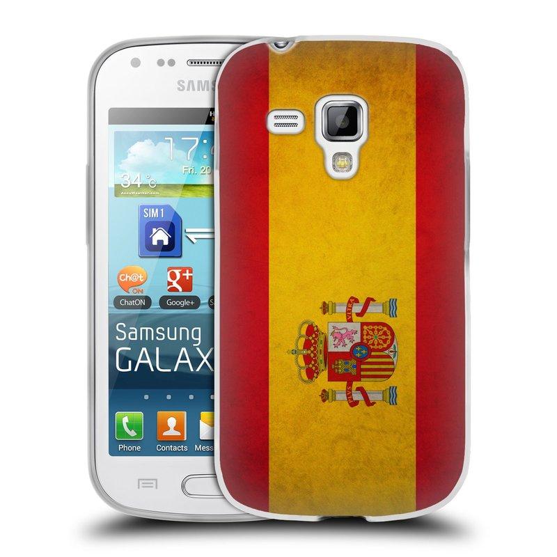 Silikonové pouzdro na mobil Samsung Galaxy S Duos HEAD CASE VLAJKA ŠPANĚLSKO (Silikonový kryt či obal na mobilní telefon Samsung Galaxy S Duos GT-S7562)