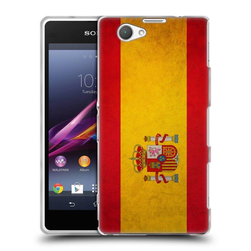Silikonové pouzdro na mobil Sony Xperia Z1 Compact D5503 HEAD CASE VLAJKA ŠPANĚLSKO (Silikonový kryt či obal na mobilní telefon Sony Xperia Z1 Compact)