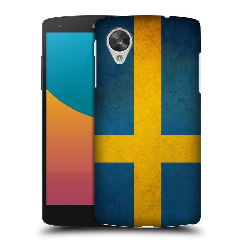 Plastové pouzdro na mobil LG Nexus 5 HEAD CASE VLAJKA ŠVÉDSKO (Kryt či obal na mobilní telefon LG Google Nexus 5 D821)