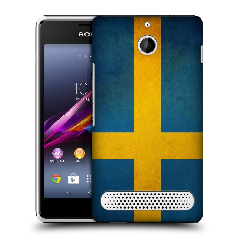 Plastové pouzdro na mobil Sony Xperia E1 D2005 HEAD CASE VLAJKA ŠVÉDSKO (Kryt či obal na mobilní telefon Sony Xperia E1 a E1 Dual)