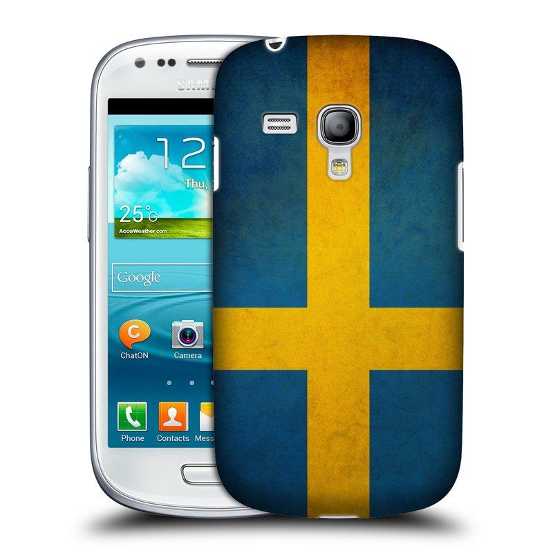 Plastové pouzdro na mobil Samsung Galaxy S III Mini HEAD CASE VLAJKA ŠVÉDSKO (Kryt či obal na mobilní telefon Samsung Galaxy S III Mini GT-i8190)
