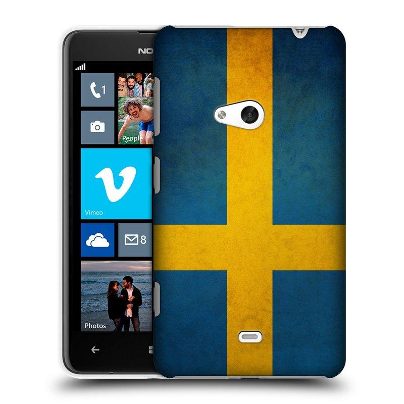 Plastové pouzdro na mobil Nokia Lumia 625 HEAD CASE VLAJKA ŠVÉDSKO (Kryt či obal na mobilní telefon Nokia Lumia 625)