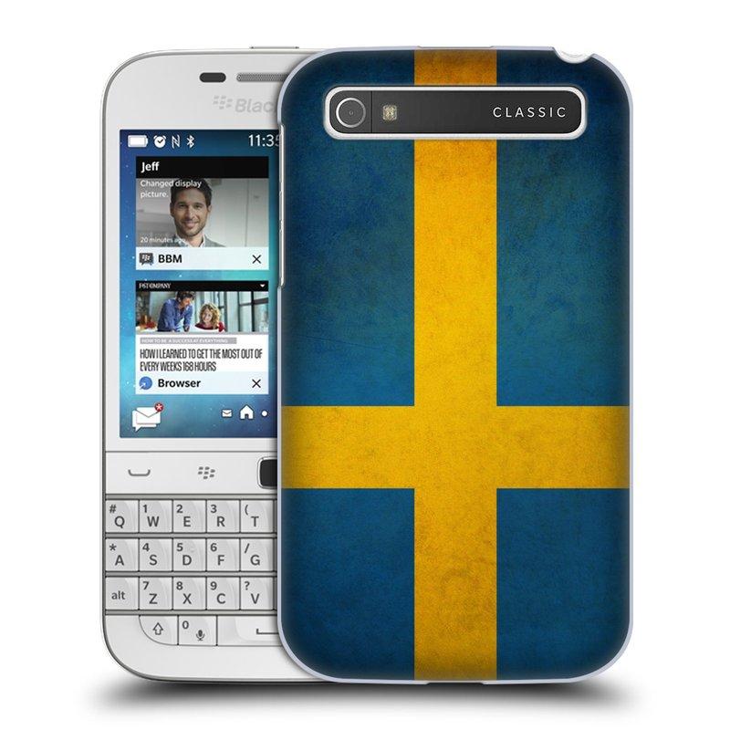 Plastové pouzdro na mobil Blackberry Classic HEAD CASE VLAJKA ŠVÉDSKO (Kryt či obal na mobilní telefon Blackberry Classic)