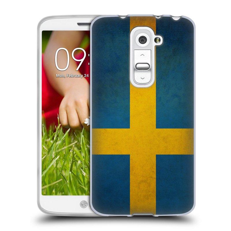 Silikonové pouzdro na mobil LG G2 Mini HEAD CASE VLAJKA ŠVÉDSKO (Silikonový kryt či obal na mobilní telefon LG G2 Mini D620)