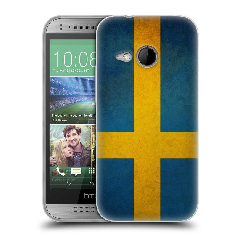 Silikonové pouzdro na mobil HTC ONE Mini 2 HEAD CASE VLAJKA ŠVÉDSKO (Silikonový kryt či obal na mobilní telefon HTC ONE Mini 2)