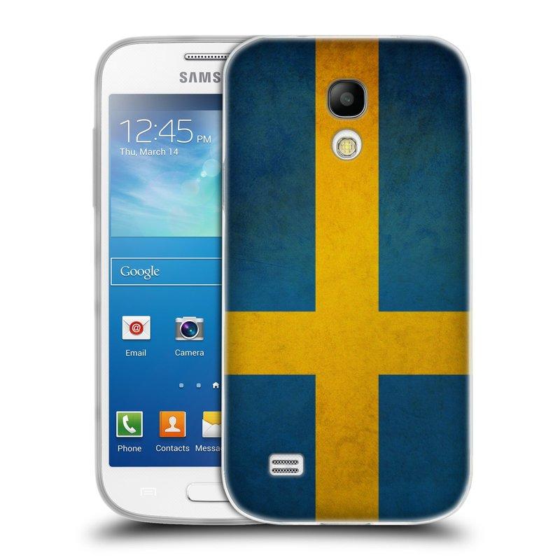 Silikonové pouzdro na mobil Samsung Galaxy S4 Mini HEAD CASE VLAJKA ŠVÉDSKO (Silikonový kryt či obal na mobilní telefon Samsung Galaxy S4 Mini GT-i9195 / i9190)
