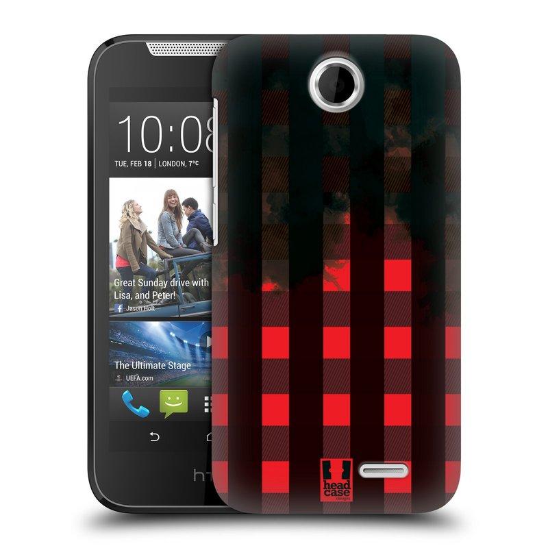 Plastové pouzdro na mobil HTC Desire 310 HEAD CASE FLANEL RED BLACK (Kryt či obal na mobilní telefon HTC Desire 310)