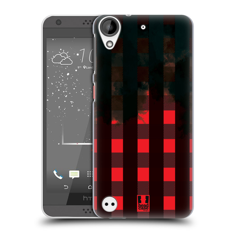 Plastové pouzdro na mobil HTC Desire 530 HEAD CASE FLANEL RED BLACK (Plastový kryt či obal na mobilní telefon HTC Desire 530)