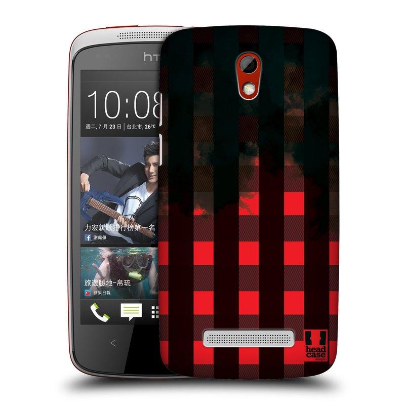 Plastové pouzdro na mobil HTC Desire 500 HEAD CASE FLANEL RED BLACK (Kryt či obal na mobilní telefon HTC Desire 500)