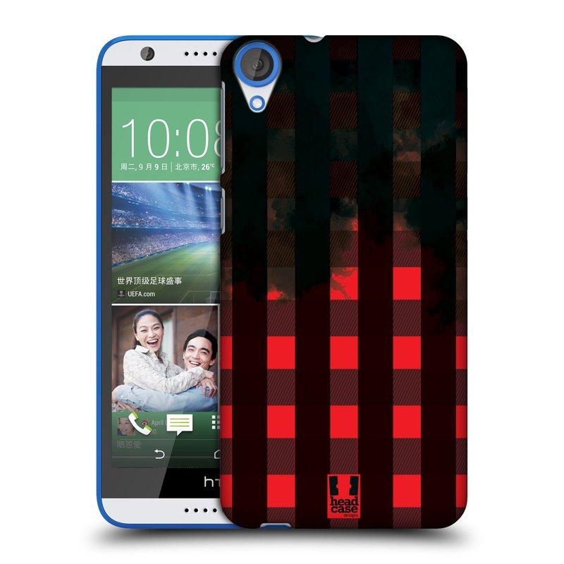Plastové pouzdro na mobil HTC Desire 820 HEAD CASE FLANEL RED BLACK (Kryt či obal na mobilní telefon HTC Desire 820)