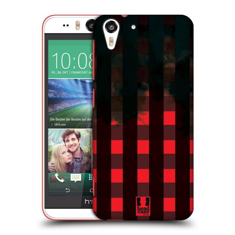 Plastové pouzdro na mobil HTC Desire EYE HEAD CASE FLANEL RED BLACK (Kryt či obal na mobilní telefon HTC Desire EYE)
