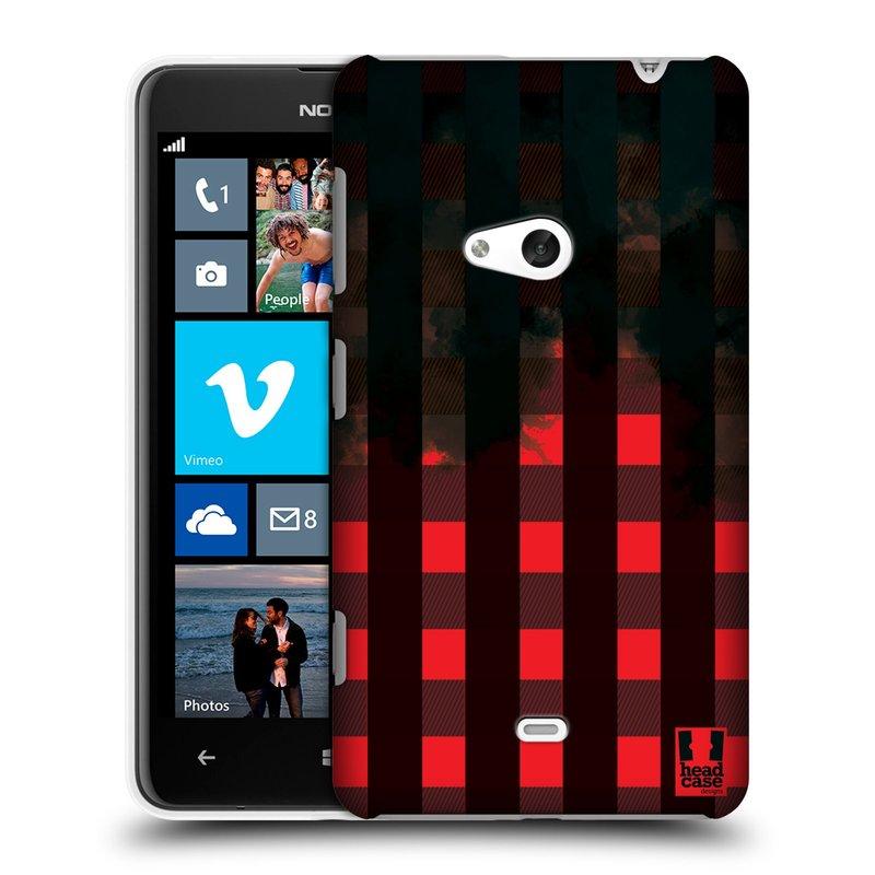 Plastové pouzdro na mobil Nokia Lumia 625 HEAD CASE FLANEL RED BLACK (Kryt či obal na mobilní telefon Nokia Lumia 625)